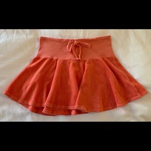 Juicy Couture Coral Orange Terry Cloth Skirt